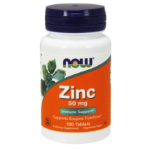 NOW Zinc (from Zinc Gluconate) 50 mg - 100 Tablets