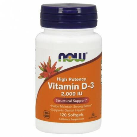 NOW D-3 2,000 IU - 120 Softgels